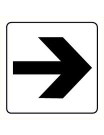 Pikt-o-Norm Pictogram indication arrow black and white
