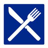 Pictogram aanwijzing eetgelegenheid