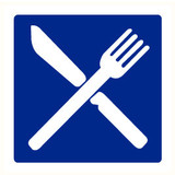 Pictogram indication canteen