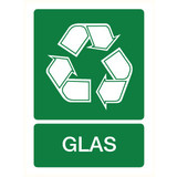 Pictogram indication recycling glass