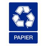 Pictogramme indication recyclage papier