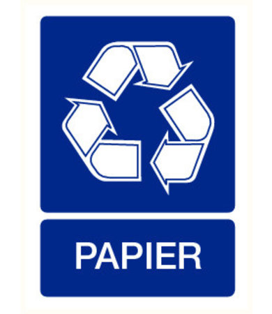 Pikt-o-Norm Pictogram aanwijzing recyclage papier