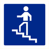 Pictogramme indication escaliers