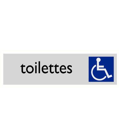 Pikt-o-Norm Pictogram tekst toilet mindervaliden