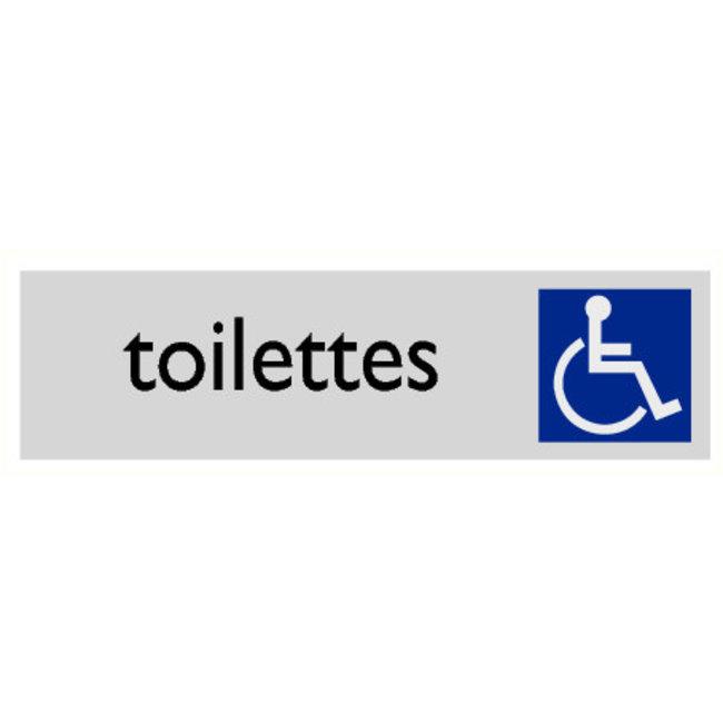 Pikt-o-Norm Pictogramme texte toilettes personnes handicapées