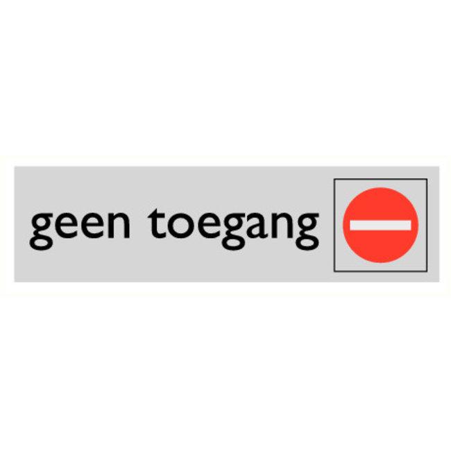 Pikt-o-Norm Pictogramme texte entrée interdite