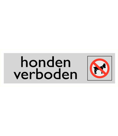 Pikt-o-Norm Pictogram text dogs not allowed