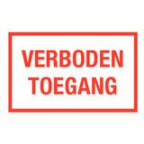 Pictogram tekst verboden toegang