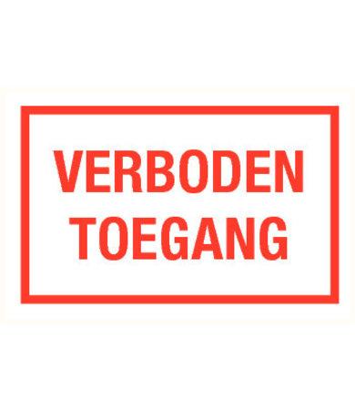 Pikt-o-Norm Pictogramme texte accès interdit néerlandais