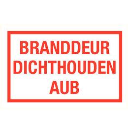 Pictogramme texte garder la porte coupe-feu fermée néerlandais