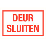 Pictogram text close door dutch