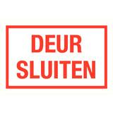 Pictogramme texte fermer porte néerlandais