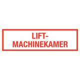 Pictogram tekst lift-machinekamer
