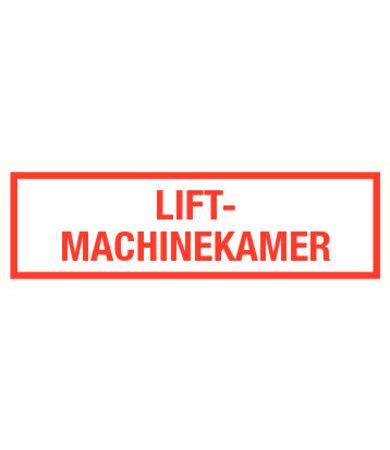 Pikt-o-Norm Pictogramme texte salle des machines d'ascenseur néerlandais