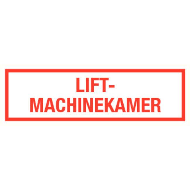 Pikt-o-Norm Pictogram text lift engine room dutch