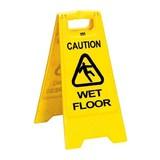 Pictogram stand caution wet floor