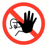 Pictogram acces prohibited for unauthorized persons