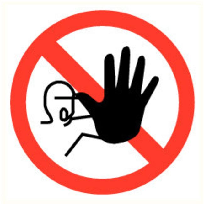Pikt-o-Norm Pictogramme accès interdit aux personnes non autorisées