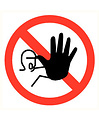 Pikt-o-Norm Pictogram acces prohibited for unauthorized persons