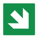 Pictogram arrow green diagonal