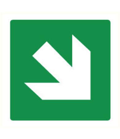 Pikt-o-Norm Pictogram arrow green diagonal