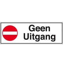 Pictogramme texte pas de sortie néerlandais