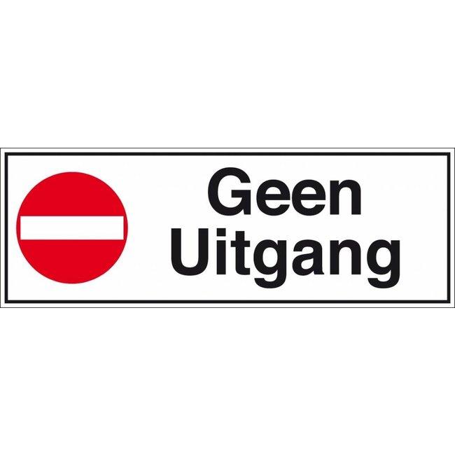 Pikt-o-Norm Pictogramme texte pas de sortie néerlandais