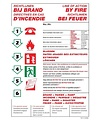 Pikt-o-Norm Pictogram instructions in case of fire 4 languages