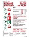 Pikt-o-Norm Pictogram richtlijnen bij brand 4 talen