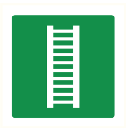 Pictogram escape ladder