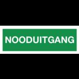 Pictogram emergency exit text dutch