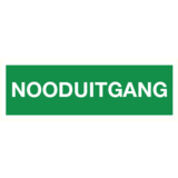 Pictogramme sortie d'urgence texte néerlandais