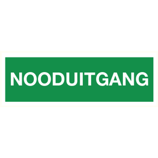 Pikt-o-Norm Pictogram emergency exit text dutch
