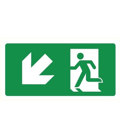 Pictogram emergency exit down left