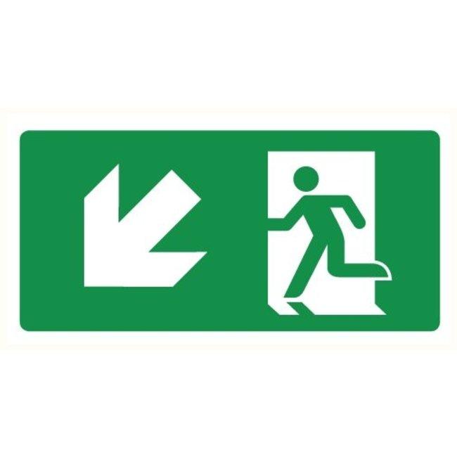 Pictogram emergency exit down left