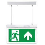 Emergency lighting board LED with direction labels