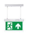 FireDiscounter Panneau d'éclairage de secours LED avec étiquettes de direction