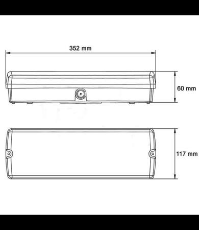 FireDiscounter Noodverlichting LED met 4 richtingslabels
