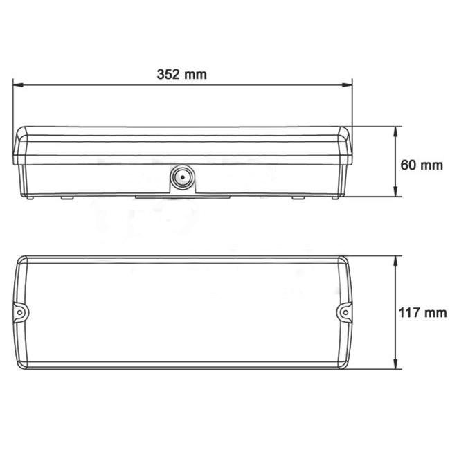 FireDiscounter Eclairage de secours LED avec 4 étiquettes de direction
