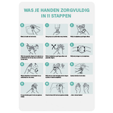Hand hygiene instructions A4
