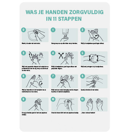 Hand hygiene instructions A4