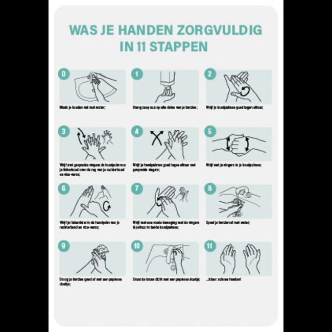 FireDiscounter Hand hygiene instructions A4