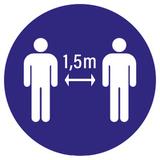 Pictogramme gardez de distance 1,5m