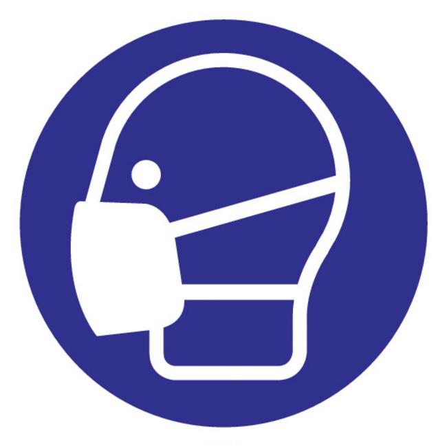 FireDiscounter mouth mask mandatory sign
