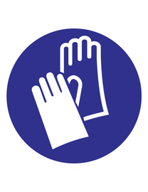 FireDiscounter Pictogram indication gloves required Corona (Covid-19)