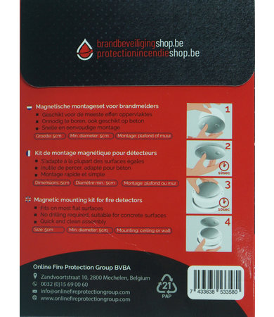 FireDiscounter Small magnetic assembly kit for fire alarms