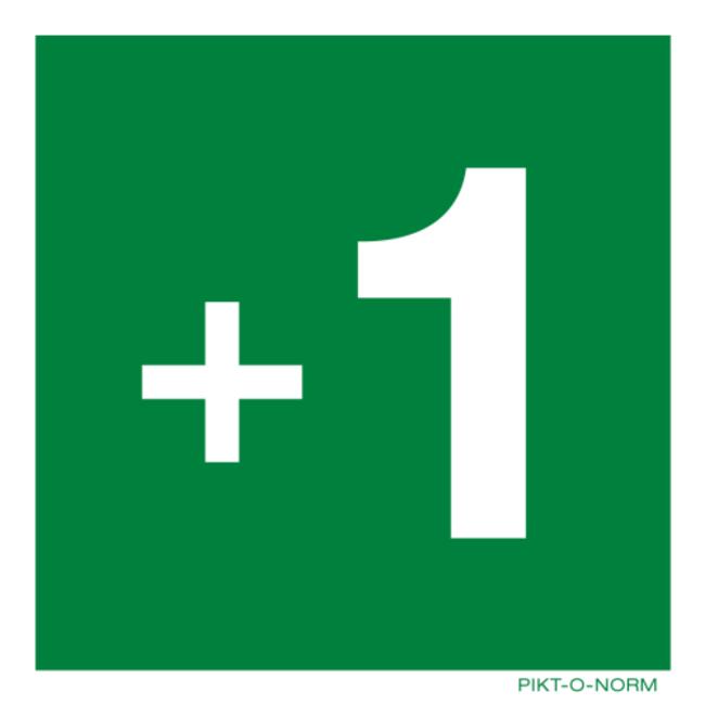 Pikt-o-Norm Pictogramme étage -3 jusqu' à 18 PVC