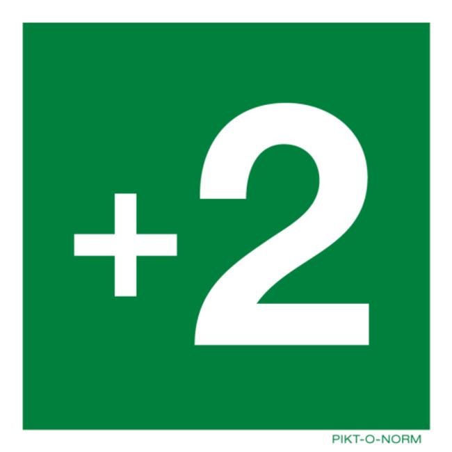 Pikt-o-Norm Pictogram verdieping -3 tot en met 18 sticker