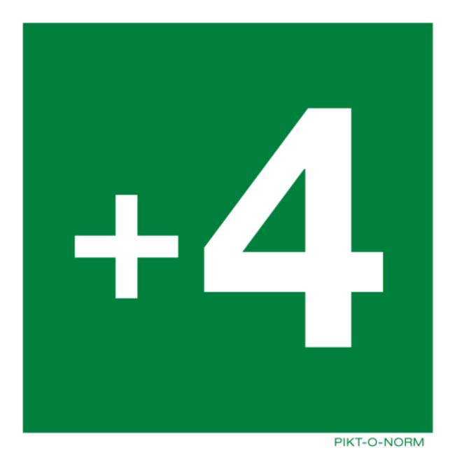 Pikt-o-Norm Pictogramme étage -3 jusqu' à 18 autocollant