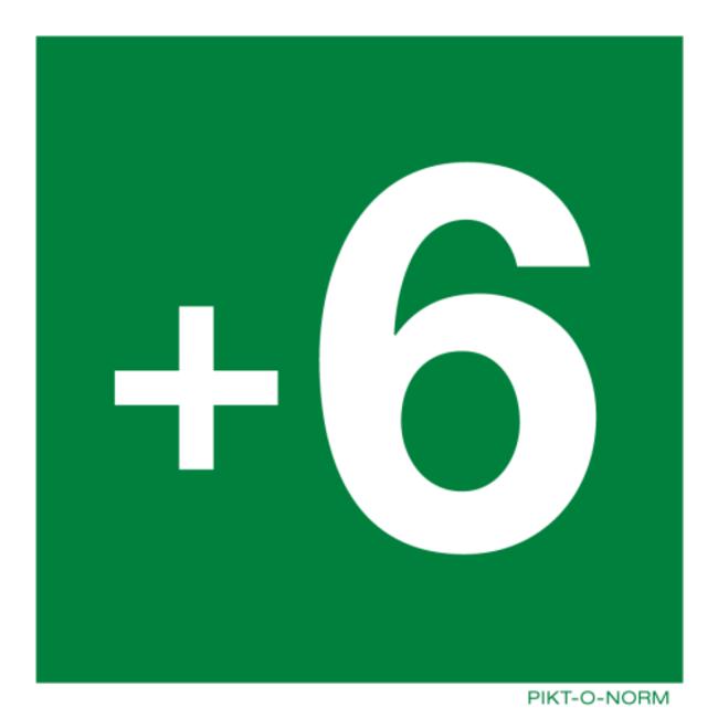 Pikt-o-Norm Pictogram floor -3 to 18 sticker